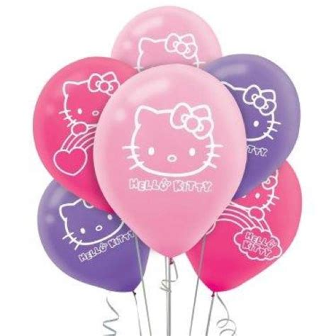 kitty latex balloons   kids themed party
