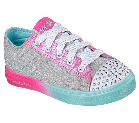 skechers light up skechers s twinkle toes silver pink blue light up sneaker