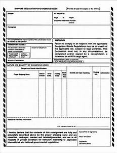 326 shipping papers postal explorer for Hazmat shipping papers template
