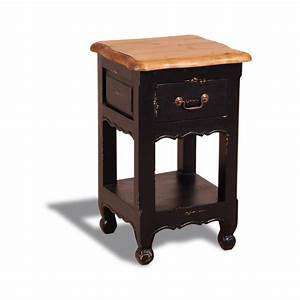 French, Painted, 1, Drawer, 1, Shelf, Bedside, Table