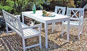 Gartenmöbel Weiß Holz : gartenset malm gartenm bel aus akazien holz in wei ebay ~ Whattoseeinmadrid.com Haus und Dekorationen