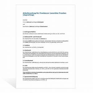 Vertrag Haushaltshilfe Minijob : muster arbeitsvertrag freelancer ~ Lizthompson.info Haus und Dekorationen