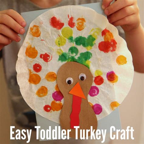 easy preschool art projects toddler approved easy toddler turkey craft with coffee 428