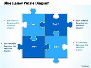Blue Jigsaw Puzzle Diagram Powerpoint templates ppt ...