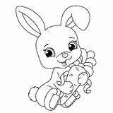 Coloring Margarita Bunny Ius Tech sketch template