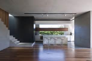 varnished wood flooring of kitchen room design idea feat