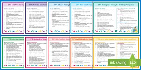 * New * Eyfs Continuous Provision Nursery Fs1 Next Steps Prompts