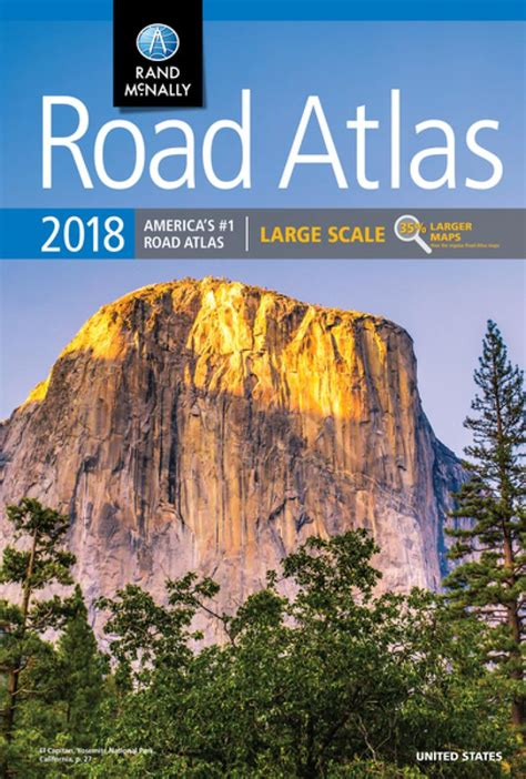 large scale road atlas  united states  rand mcnally