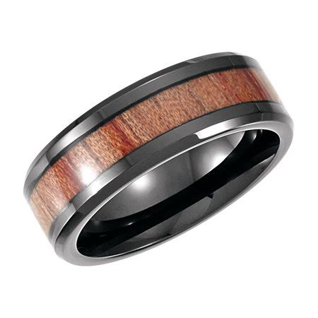 jewelryweb cobalt mm black pvd casted band ring