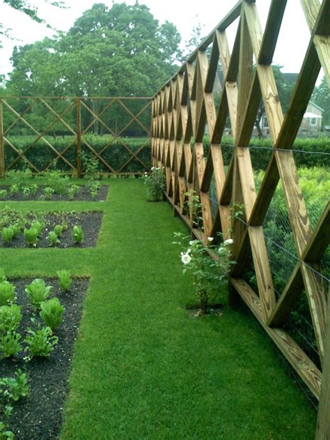 Garden Fence Trestle by The Landscape Designer Is In Deer Fencing