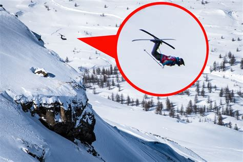 Skiers perform extreme tricks in The Swatch Skiers Cup