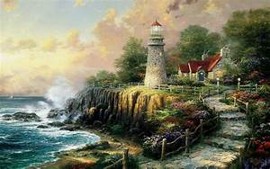Thomas Kinkade Wallpaper ·①