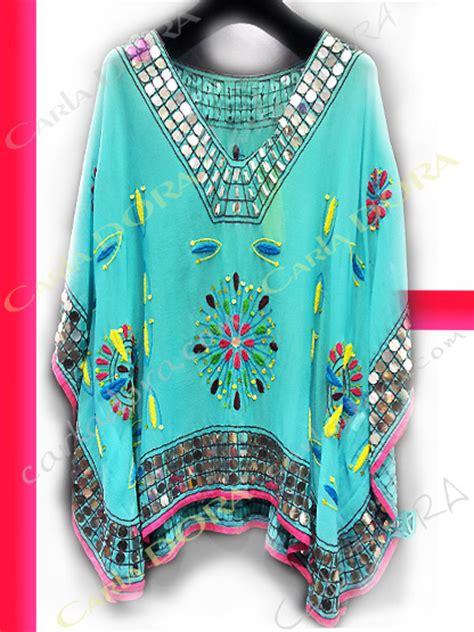 chaussure de cuisine tunique femme tendance mi longue bleu turquoise broderies et paillettes top tunique femme