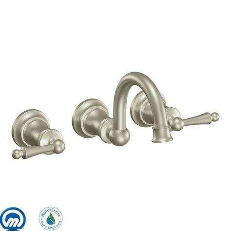 moen wall mount kitchen faucet faucet com ts416bn in brushed nickel by moen