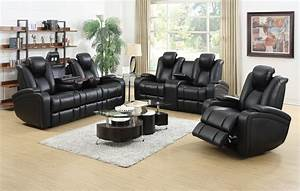delange leather power reclining sofa theater seats with With joffrey leather 3 piece sectional sofa with 2 power recliners console