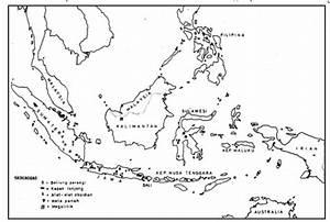 Gambar Peta Indonesia Hitam Putih