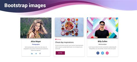 angular images bootstrap  material design examples