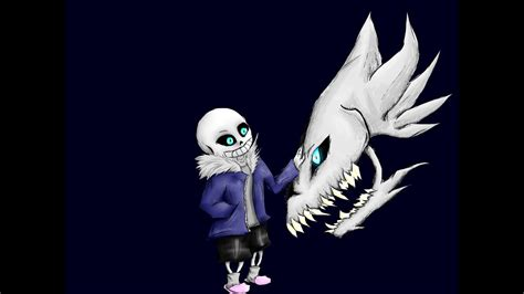 Sans With Gaster Blaster Speedpaint Without Background