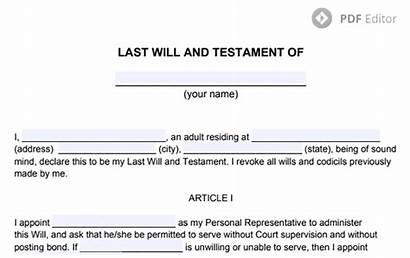 Testament Last Pdf Form Write Template Movavi
