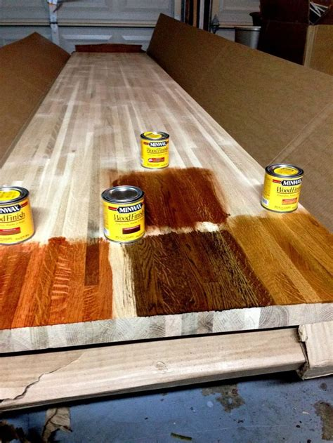 Staining Butcher Block Countertops diy kitchen remodel staining butcher block countertops