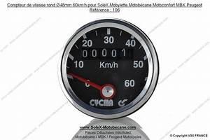 Solex 3800 Vitesse : compteur de vitesse rond 48mm 60km h pour solex mobylette motob cane motoconfort mbk peugeot ~ Medecine-chirurgie-esthetiques.com Avis de Voitures