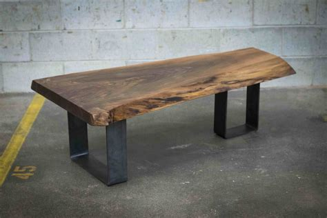 Table à café live edge noyer noir ? Bois & Design   Live edge custom made tables