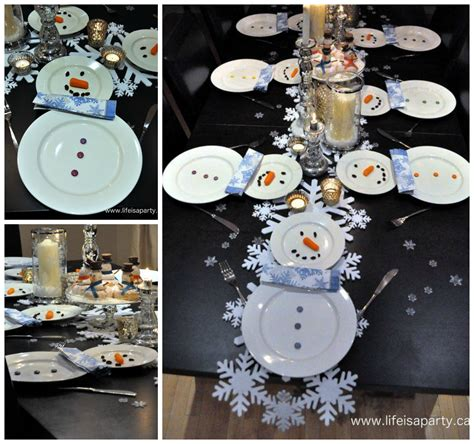 Snowman Table Decorations - finds friday including food craft ideas