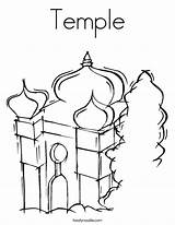 Temple Coloring Mosque Pages Judaism Synagogue Twistynoodle Outline Built California Usa Noodle Favorites Login Tracing 95kb 886px sketch template
