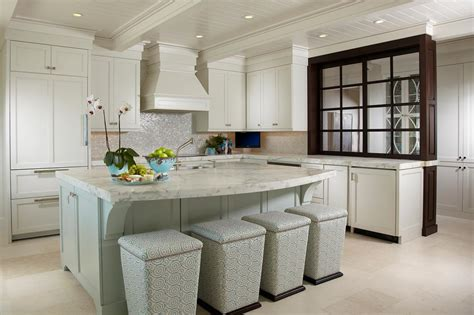 Transitional White Kitchen With Windowed Partition Wall  Hgtv
