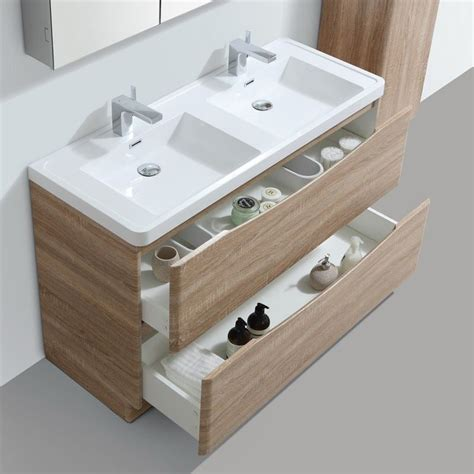 amenagement tiroir salle de bain meuble salle de bain 120 cm ch 234 ne 224 poser 2 tiroirs nature