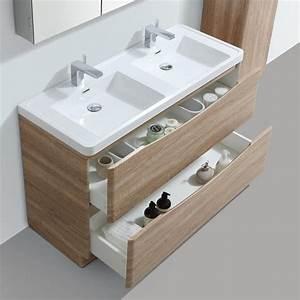 placard salle de bain hoze home With salon de jardin bois leroy merlin 2 meuble de salle de bains de 80 224 99 blanc beige