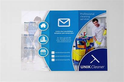 Brochure Cleaning Fold Tri Sk Template Creativemarket