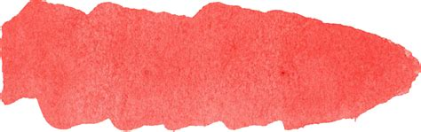 red watercolor brush stroke banner png transparent