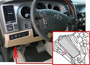 Fuse Box Diagram Toyota Sequoia  2008