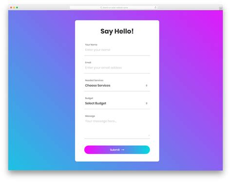 25 free html contact forms with fresh new designs 2019