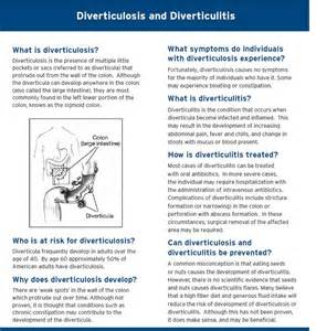 Diverticulosis and Diverticulitis Diet