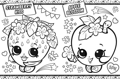 shopkins coloring  shopville book  buzzpop