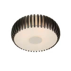 shop allen roth 14 75 in w black white ceiling flush