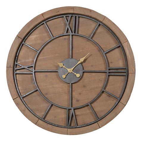 solid wood wall clock   orchard notonthehighstreetcom