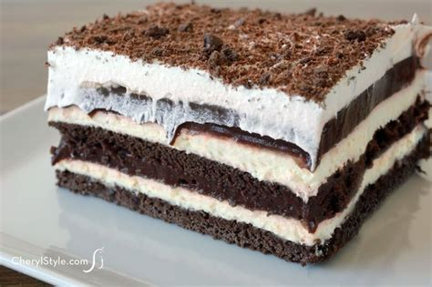 best easy chocolate desserts easy chocolate dessert lasagna recipe with pudding and cheese