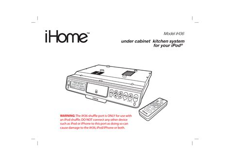 ihome cabinet kitchen system ihome ih36 user manual 21 pages 7431