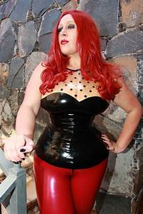 Latex Lady S Collection - Gothic Dot Latex Top