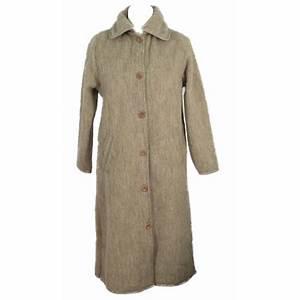 robe de chambre laine des pyrenees beige boutonnee 7 8 With robe de chambre en laine des pyrenees
