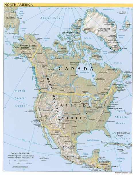 map  north america  source   kinds  maps