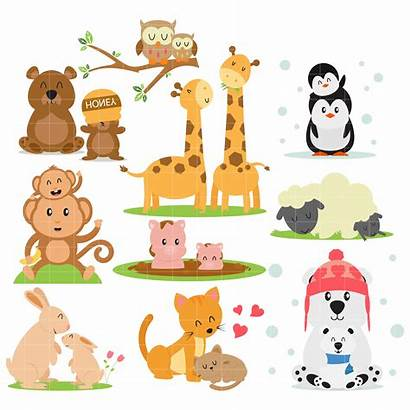 Animal Clipart Families Arts Clip Cliparts Animaux