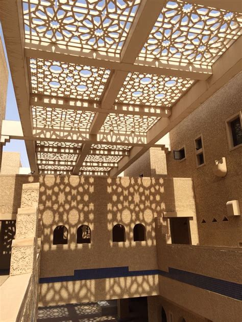 arabesque pattern   courtyard riyadh ksa cblue