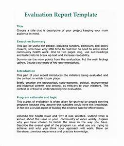 Monitoring and evaluation report writing template 3 for Monitoring and evaluation report writing template