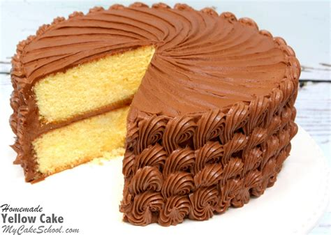 yellow cake  scratch recipe  cake school