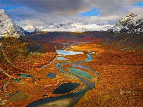 sweden  rapa valley  sarek national park  bing