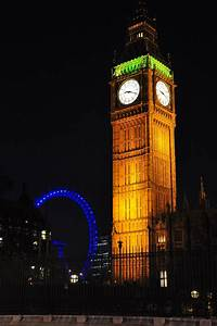 Big Ben and the London Eye at Night | Big Ben and the ...